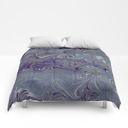 Purple, Blue, & Green Marbled Comforters