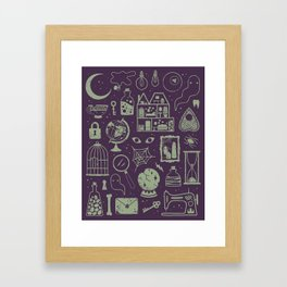 Haunted Attic: Phantom Framed Art Print