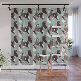 Waiting for the horse race // mint background Wall Mural