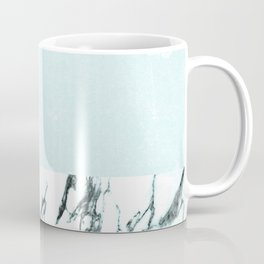Marble & concrete - soft aqua Coffee Mug