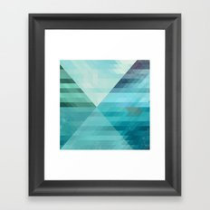 Lake and boat Framed Art Print