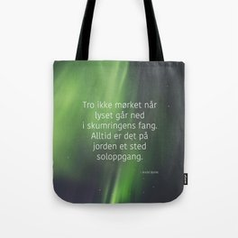 God morgen, far og mor Tote Bag