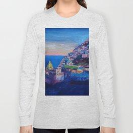 Amazing Amalfi Coast at Sunset in Italy Long Sleeve T-shirt