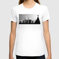rio de janeiro T-shirts featuring Rio de Janeiro skyline by siloto