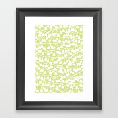 Lily of the Valley repeat Framed Art Print