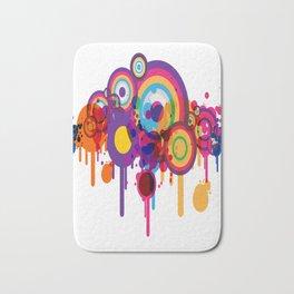 Color Paint Blobs Bath Mat