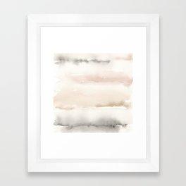 Origin Neutral Watercolor Wash Framed Art Print