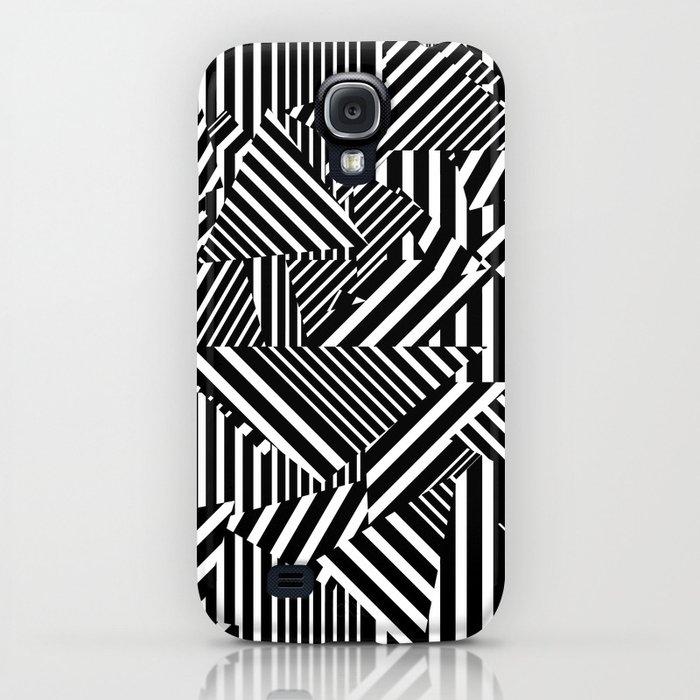 Dazzle Camo #01 - Black & White iPhone Case