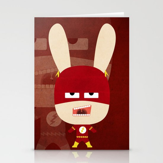 We are all rabbits \ Flash  Stationery Cards