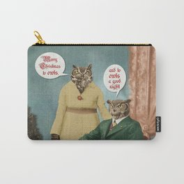 Merry Christmas to Owls, and to Owls a Good Night!! Carry-All Pouch