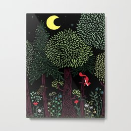 Into The Woods At Night Metal Print
