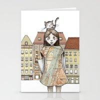 budapest Stationery Cards featuring Budapest by Bari Zsidek