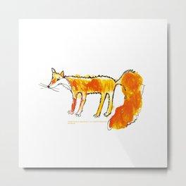 Fox illustration, fox drawing, fox design, fox painting Metal Print