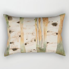 Rainbow Birches Sunset Rectangular Pillow