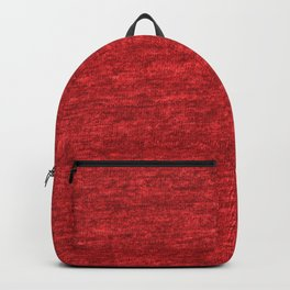 Red Heather Cotton Texture Backpack