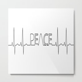 Peace electrocardiogram anatomy aorta Metal Print