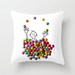 DIDI and chocolate candies Throw Pillow