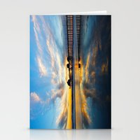 calendars Stationery Cards featuring Sunset ~ Huntington Beach Pier CA  11/7/13 by John Minar Fine Art Photography