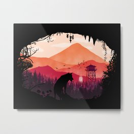 Lonely Wolf in The Cave Metal Print