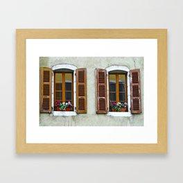 SHUTTERS-FRANCE  Framed Art Print