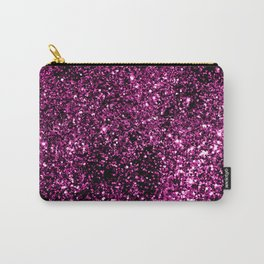 Pink Summer Night Lady Glitter #1 #shiny #decor #art #society6 Carry-All Pouch