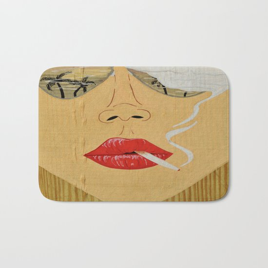 California Dreamin', Smoking Lady Series Bath Mat