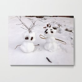 Baby Snowcouple Metal Print