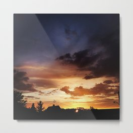Edmonton Sunset 118 ave, 95 st. Metal Print