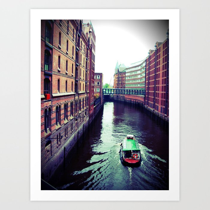 Hamburg or Venice? Art Print by Christine aka stine1