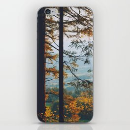 Earthscape Landscape Photography Tall Autumn Fall Trees Overlooking Fields iPhone Skin