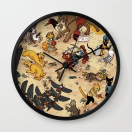 CAT VS MICE Wall Clock