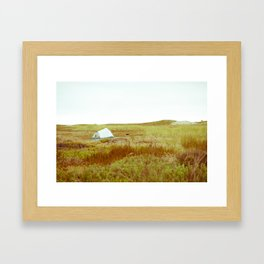 Beach Camp Framed Art Print