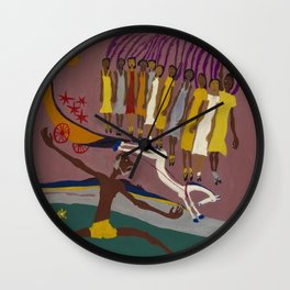 African American Masterpiece Swing Low, Sweet Chariot, by William Henry Johnson Wall Clock