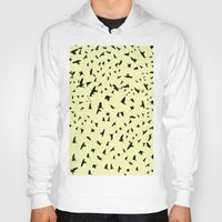 notebook Hoodies featuring Flying Birds on a notebook by Fun & Art