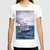 england T-shirts featuring New England by Samantha Crepeau