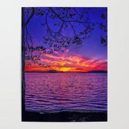 Just a autumn sunset shot Poster