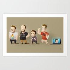 IG Lineup Art Print