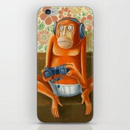 Monkey play iPhone Skin