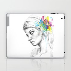 Butterfly Queen Girl with Butterflies Laptop & iPad Skin
