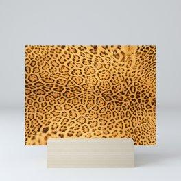 Brown Beige Leopard Animal Print Mini Art Print