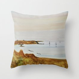 Lampaul summer North Brittany Throw Pillow