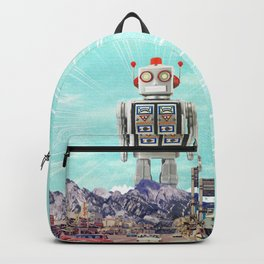 Robot in Town Backpack