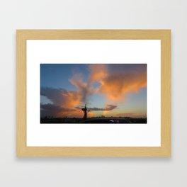 Sunset Over Olympic Park, Stratford, London Framed Art Print