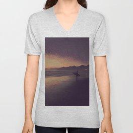 Sunset Surfer Unisex V-Neck