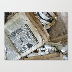 Old Newspaper Left to the Elements...Furnish Your Home in Style Canvas Print