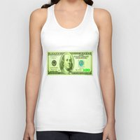 the 100 Tank Tops featuring 100 Dollars by JT Digital Art
