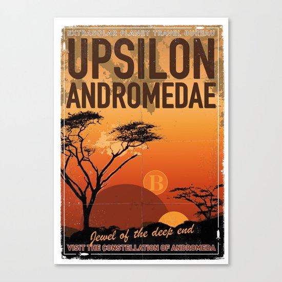 My Exoplanetary Travel Poster: Upsilon Andromedae B Canvas Print