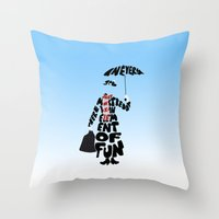 mary poppins Throw Pillows featuring Mary Poppins by pokegirl93