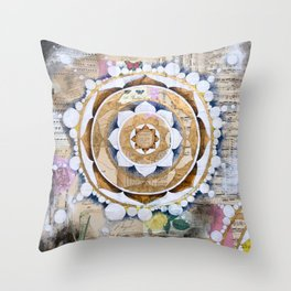 Music Mandala Throw Pillow