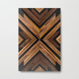 Urban Tribal Pattern 3 - Wood Metal Print